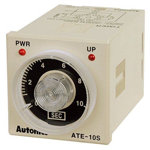 (AUTONICS ATE-60M-110/220VAC Timer, Analog, On-Delay, 60 Minutes, SPDT Timed & SPST Instantaneous, 8-Pin (socket req'd))