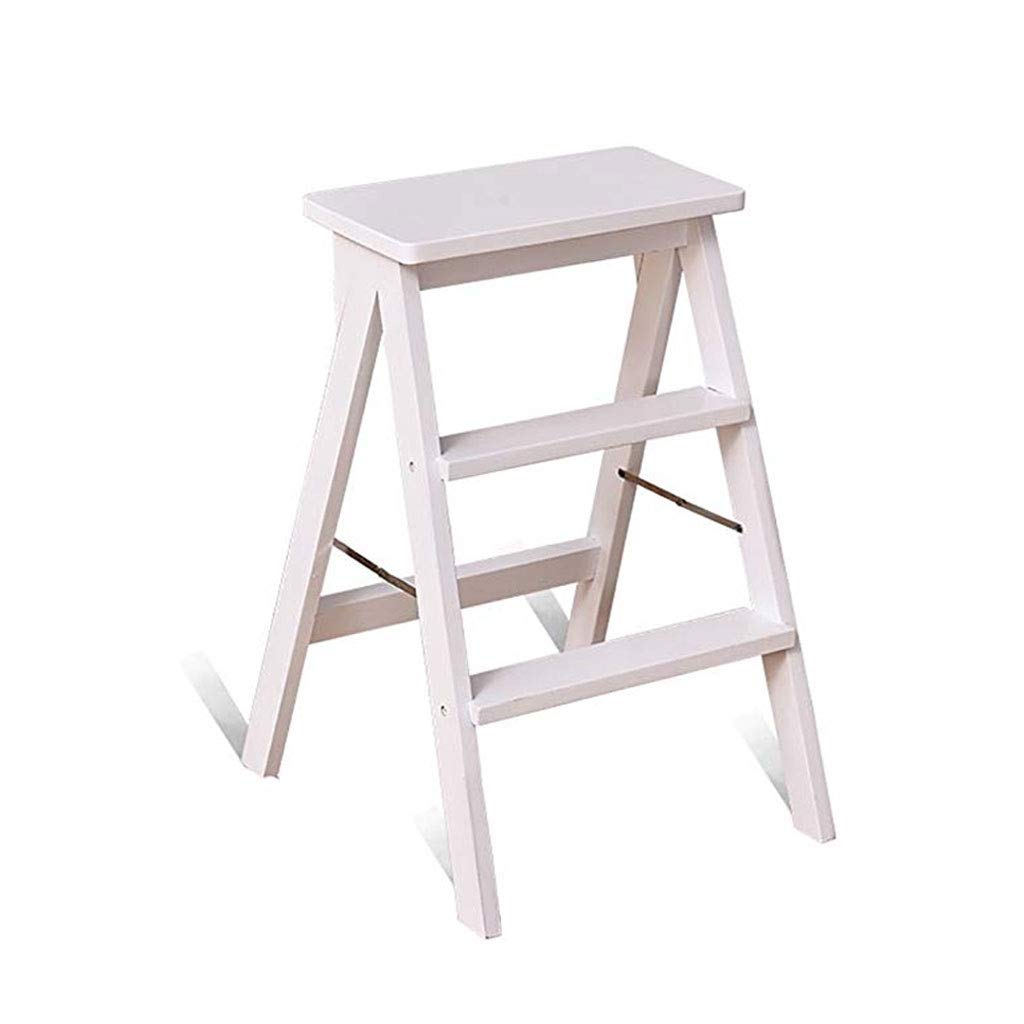 Brilliant Amazon Com Step Stool Three Step Ladder Stool Solid Wood Pabps2019 Chair Design Images Pabps2019Com