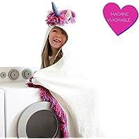 Born To Unicorn Blanket For Girls- Hooded, Kids Pink,...