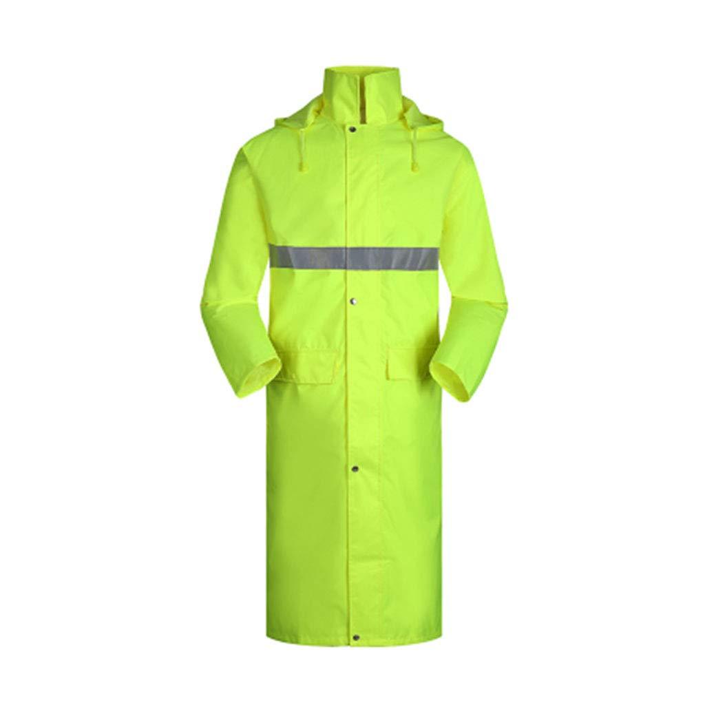 Fluorescent jaune XX-grand LYQQQQ Vestes Coupe Pluie Long imperméable - Hommes et Femmes Adultes, pêche en Plein air, Poncho en Une pièce, imperméable Complet Imperméable (Couleur   Fluorescent jaune, Taille   XL)
