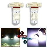 CCIYU 2X White High Power 6000K 144 SMD 5202 H16 LED Driving Fog DRL Light Bulbs Lamps (White)