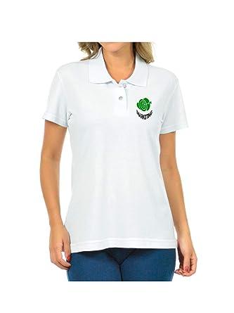 4253fe191098 Camisa Polo Feminina Logo Simbolo Curso Marketing Bordado: Amazon ...