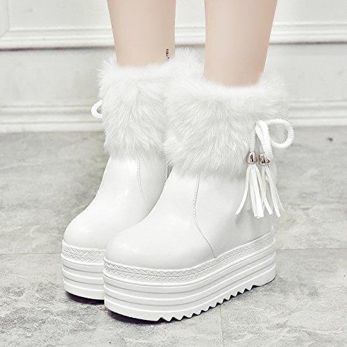 HGTYU-Una pendiente con el aumento de las botas de nieve de algodón grueso y botas zapatos zapatos de mujer35 38