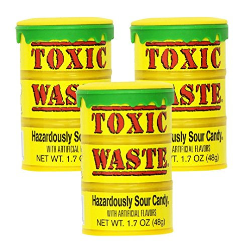 - Toxic Waste Hazardously Sour Candy Drum 1.7oz (Pack of 3)