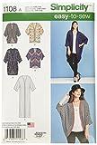 SIMPLICITY Patterns 1108 Misses' Kimono's in Different Styles, A (XXS-XS-S-M-L-XL-XXL)