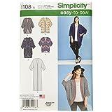 SIMPLICITY Patterns 1108 Misses' Kimono's in, A (XXS-XS-S-M-L-XL-XXL)