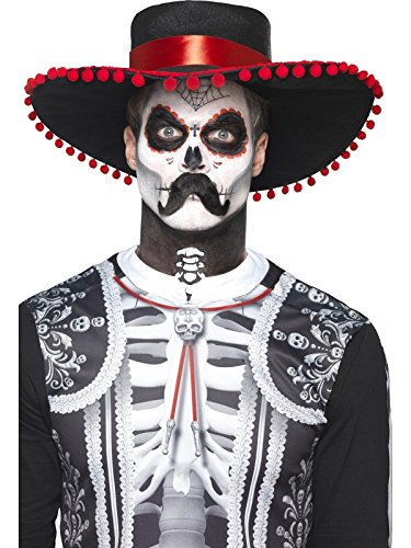 Day Of The Dead Male Makeup Kit (Halloween Day of the Dead Senor Bones Make-Up Kit)