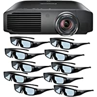 Panasonic PT-AE8000U 1080p Full HD 3D Home Theater Projector + 10 Pairs of Panasonic 3D Glasses DavisMax Bundle