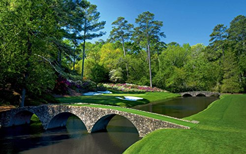 Augusta National 12th Hole The Masters Poster Art Print Photo Golf Posters Photos 12x18 (Augusta National Golf Holes)