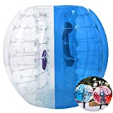 Inflatable Bumper Bubble Soccer Ball, Giant Human Hamster Ball Knocker Ball for Adults & Teens, Body Bumper Dia 4ft/5 ft(1.2m/1.5m) with Repair kit[US Stock] (Blue & White(1.5M))