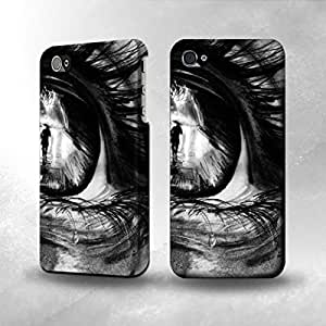Apple iPhone 4 / 4S Case - The Best 3D Full Wrap iPhone Case - Crying Eye