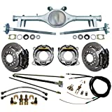 "NEW CURRIE 64-66 GM A-BODY REAR END WITH WILWOOD DISC BRAKES, 11"" ROTORS, BLACK CALIPERS, BRAKE LINES, PARKING BRAKE CABLES, AXLES, BEARINGS, 1964, 1965, 1966 CHEVY CHEVELLE, EL CAMINO, MALIBU"