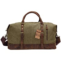 Berchirly Canvas Duffle Bag Weekend Travel Luggage