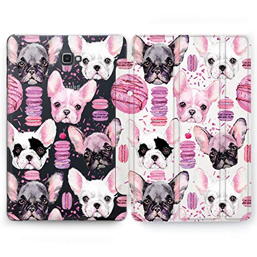 Wonder Wild Donuts Doggy Samsung Galaxy Tab S4 S2 S3 A E Smart Stand Case 2015 2016 2017 2018 Tablet Cover 8 9.6 9.7 10 10.1 10.5 Inch Clear Design -