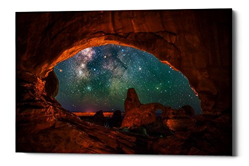 Epic Graffiti Window to the Heavens by Darren White Giclee Canvas Wall Art, 26'' x 40'' by Epic Graffiti