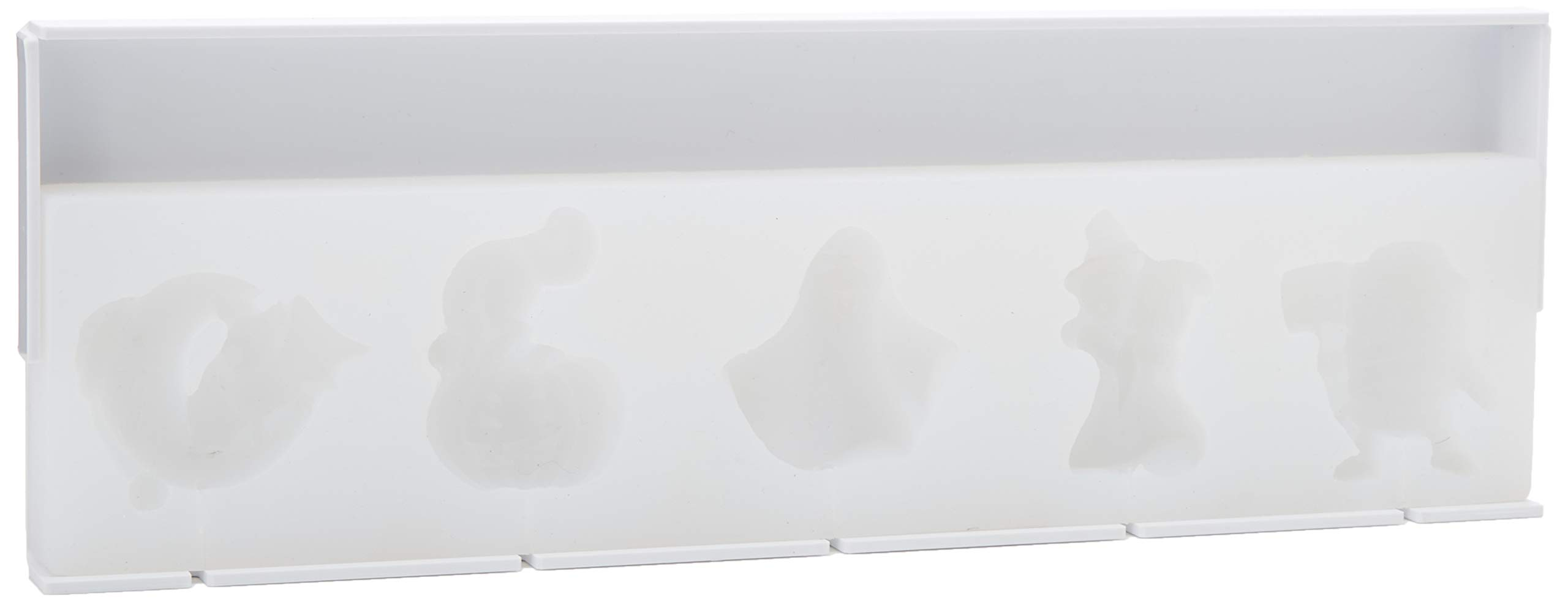 Martellato 30SML001 Silicone Halloween Lollipop Mould, 395 x 143 mm, White