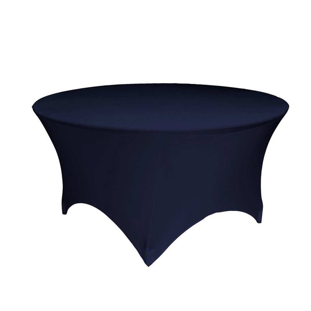 GFCC 3FT Table Navy blue Round Stretch Tablecloth for Wedding Party Restaurant Decoration