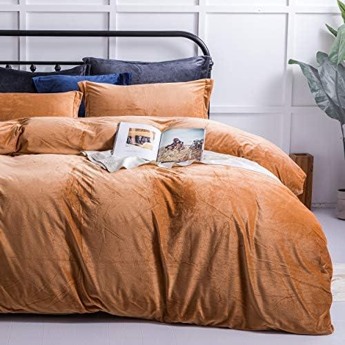 NTBAY Velvet Flannel Zippered Comforter