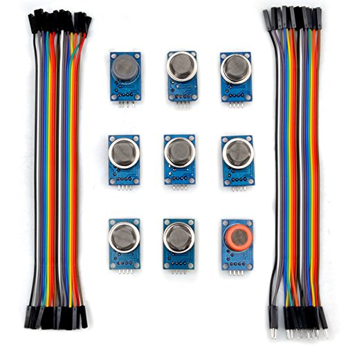 Kuman K24 sensor kits for Arduino MQ2 MQ3 MQ4 MQ5 MQ6 MQ7 MQ8 MQ9 MQ135 kit  Diy with jumper cables