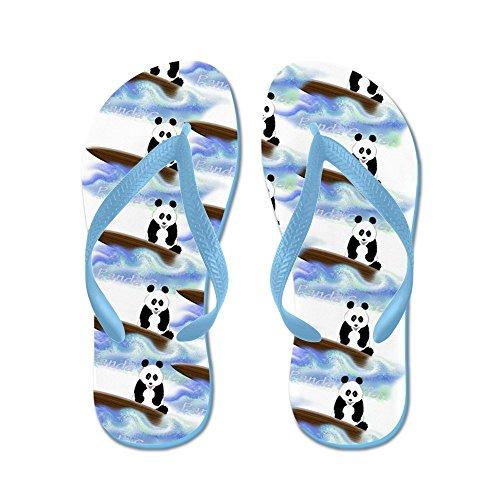 CafePress - Surfing Panda Bear - Flip Flops, Funny Thong Sandals, Beach Sandals Caribbean Blue
