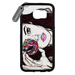 CASECOCO(TM) Marina and the Diamonds Samsung Galaxy S6 Case - Protective Hard Back / Black Rubber Sides Case for Samsung Galaxy S6