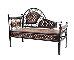 Acme Production wroght iron wooden dewan ,Seater sofa