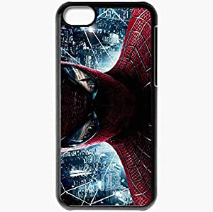 Personalized iPhone 5C Cell phone Case/Cover Skin Amazing spider man new movies Black