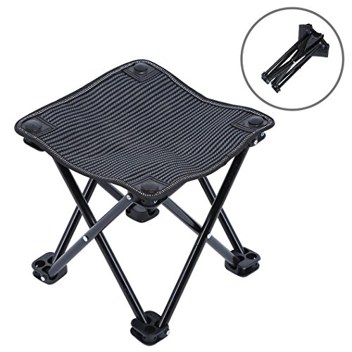 "Mini Portable Folding Stool, Outdoor Folding Chair for Camping, Picnic, Fishing, Travel, Hiking, Garden, Beach, Quickly-Fold Chair Oxford Cloth with Carry Bag 10"" W x 10' D x 10.2' H"
