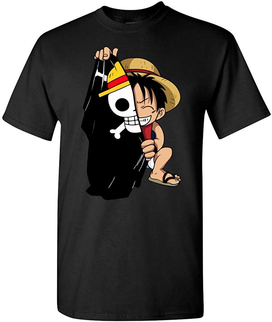 Luffy Series 1 Pants Roblox Amazon Com Monkey D Luffy Flag One Piece Anime T Shirt Clothing