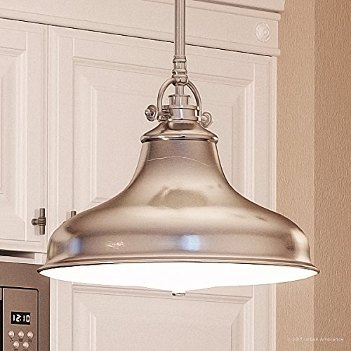 Luxury Industrial Hanging Pendant Light, Medium Size: 11.5