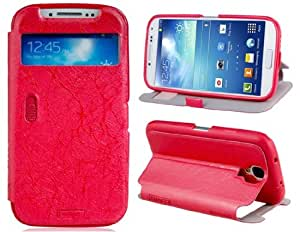 LLMM Faux Leather Stand Protective Case for Samsung Galaxy S4/i9500 (Red)
