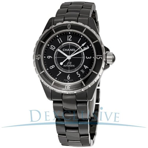 Watch Ceramic Chanel Black - Chanel J12 Black Ceramic Automatic Midsize Unisex Watch H0685