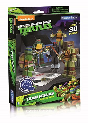 Zoofy International Teenage Mutant Team Ninja Turtles Paper Craft Pack -