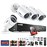 ANNKE UltraHD 3MP 8CH Video Security System - Four 2000TVL 2.0-Megapixel Weatherproof IP66 Bullet CCTV Cameras with Night Vision and 1TB Hard Disk Drive, Email Alarm with Picture, Phone Access