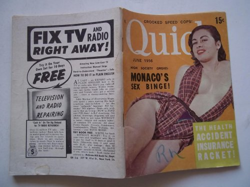 Quick: The News Pocket Magazine! (June 1956, Vol. 2 No. 2) (News, Scandal, and Cheesecake Men's Pocket-Sized Digest Magazine)