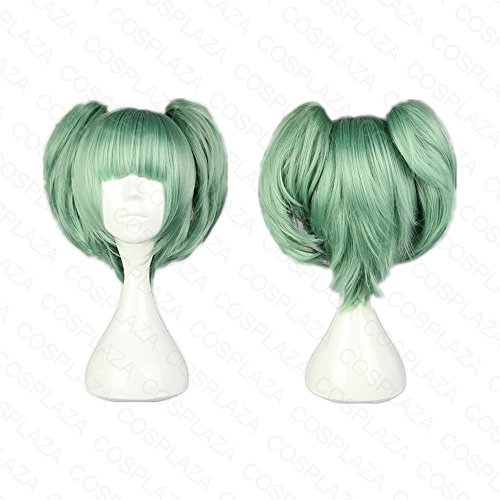 cosplaza-short-green-clip-on-pony-anime-cosplay-wigs-halloween-synthetic-wig