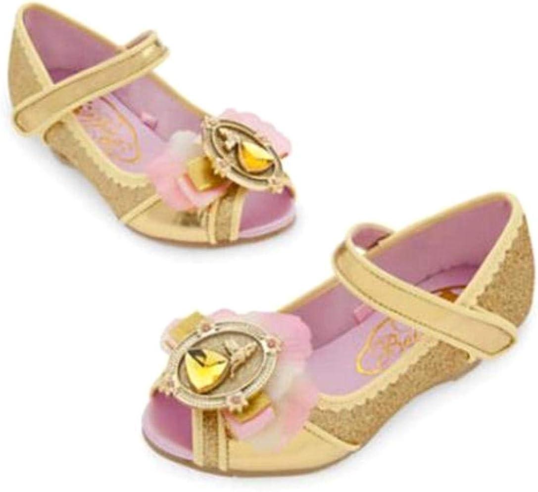 9//10 Disney Store Princess Belle Toddler Girl Costume Dress Shoes