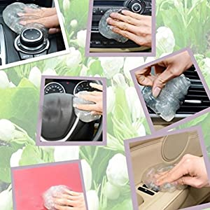 Alonea Auto Car Clean Glue Gum Gel Cleaning Air Outlet Vent Interior Keyboard Cleaner