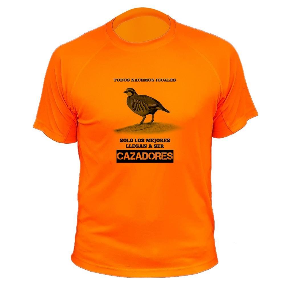 Camisetas de caza, Todos nacemos iguales, perdiz roja - Ideas regalos AtooDog