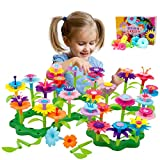 PUZ Toys for 4-6 Year Old Girls Flower Garden Building Set 98 PCS Arts and Crafts for Girls 11 Colors Birthday Gifts Christmas