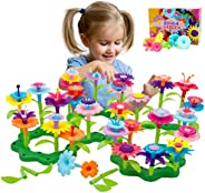 Byserten Gifts for 3-6 Year Old Girls Flower Garden Building Set 98 PCS Arts and Crafts for Girls 11 Colors Bi