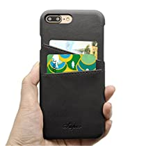 iPhone 7 8 Wallet Case Slim Vintage Protective Rugged Leather Back Case With Credit Card Holder Shockproof Cover for Apple iPhone 8 7 byElekmall