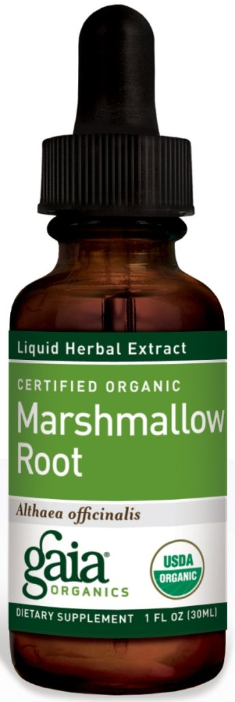 Gaia Herbs Marshmallow Root, 1-Ounce Bottle (Pack of 2)