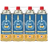 Carcoustic 6010052 Bright Spark Gas Cartridges, 220 g, Pack of 4