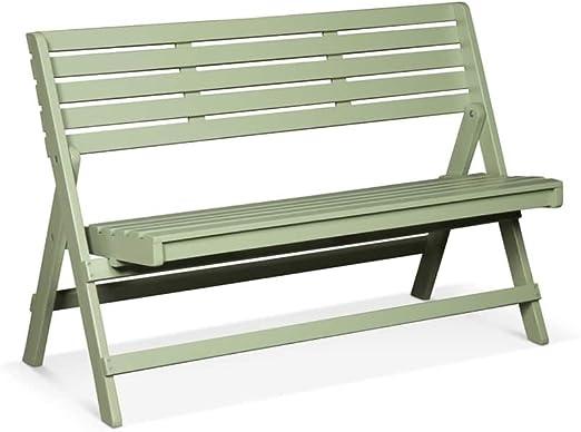 lanterfant® Banco de jardín Cees, Vintage Green, junto plegable, de 2 Sentado, balcón: Amazon.es: Jardín