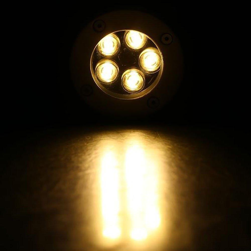 foco decorativo para exteriores 1W 1.00watts 120.00volts luces en el suelo jard/ín patio o terraza L/ámpara LED impermeable para patio Blanco fr/ío