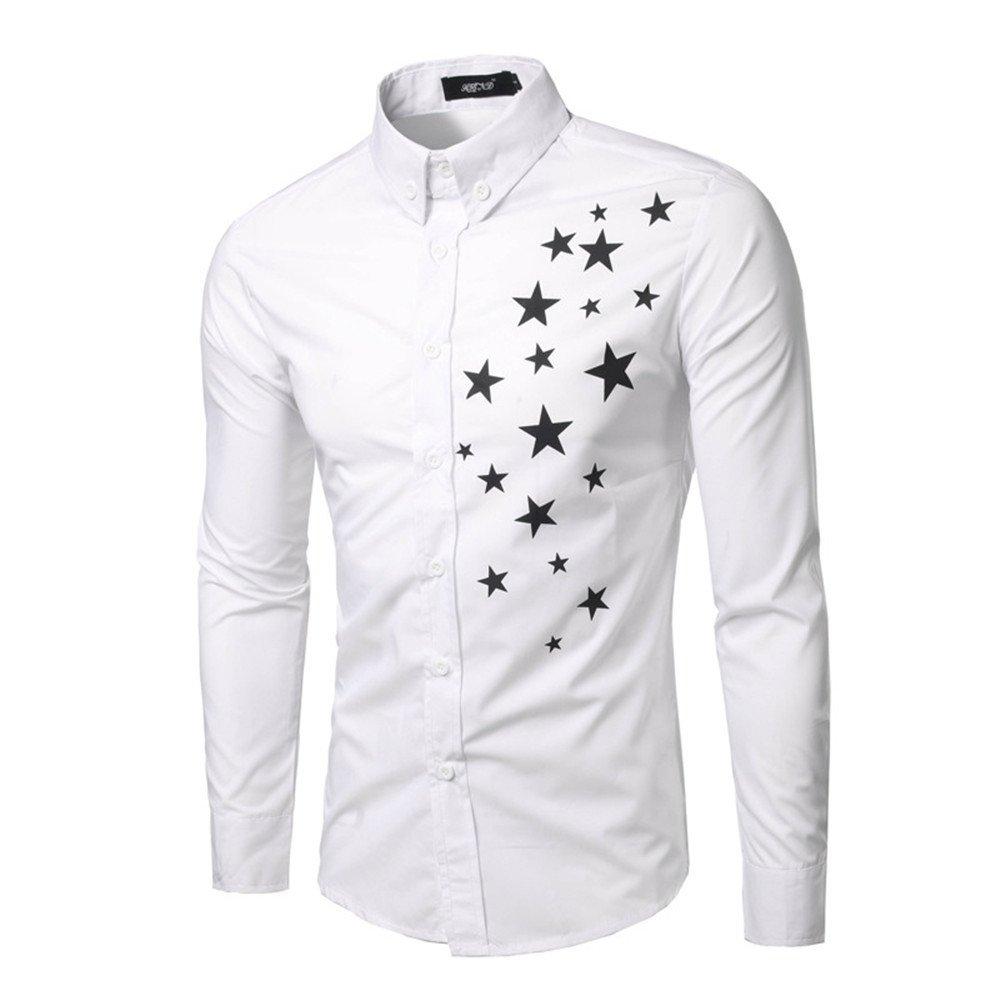 Lixus männer - Mode - Shirt Fashion Shirt große Code - Hemd,weiße,l