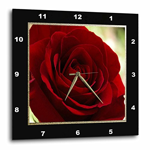 3dRose 3D Rose Red Frame in Gold and Black-Wall Clock, for sale  Delivered anywhere in USA