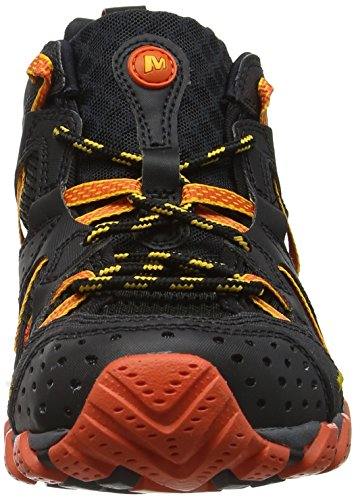 Merrell - Waterpro Maipo, Zapatos de Low Rise Senderismo Hombre Negro (Black/Hot Coral)