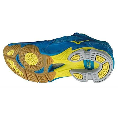 Mizuno Wave Lightning RX2 Mid - Scarpe da Pallavolo Unisex - Blue/Yellow